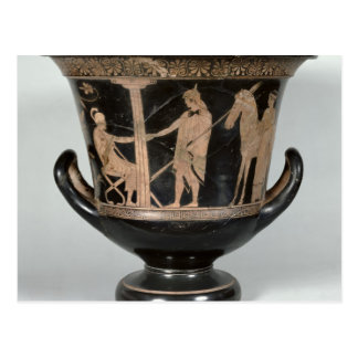 Attic red-figure kalyx krater postcard