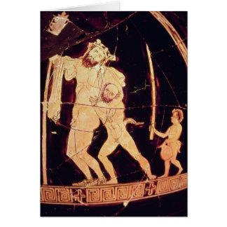 Attic red-figure vase card