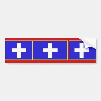 Attica, Greece flag Bumper Sticker