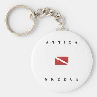 Attica Greece Scuba Dive Flag Keychains