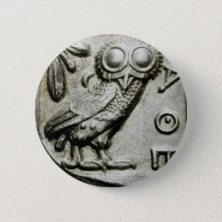Attica Tetradrachm Owlthena 6 Cm Round Badge