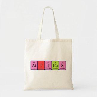 Atticus periodic table name tote bag