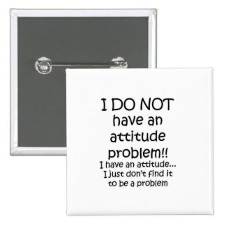 attitude 15 cm square badge