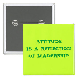ATTITUDE 15 CM SQUARE BADGE