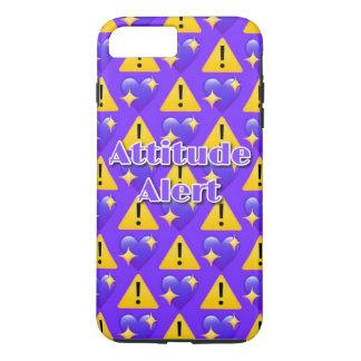 Attitude Alert (Purple) iPhone 7 Plus Phone Case