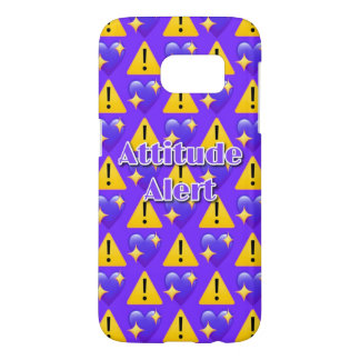 Attitude Alert (Purple) Samsung Galaxy S7 Case