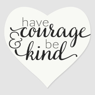 Attitude Courage Life Motivational Quote Heart Sticker