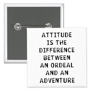 Attitude Difference 15 Cm Square Badge