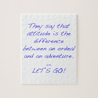 Attitude - difference between ordeal and adventure jigsaw puzzle