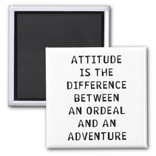Attitude Difference Refrigerator Magnets
