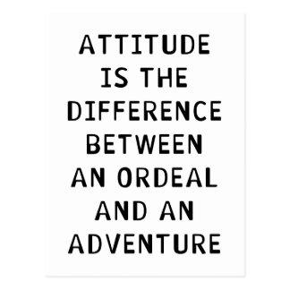 Attitude Difference Postcard