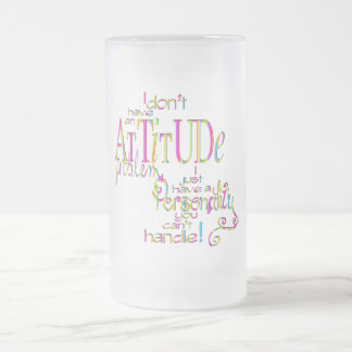 Attitude - Frosted Glass Stein Frosted Glass Mug