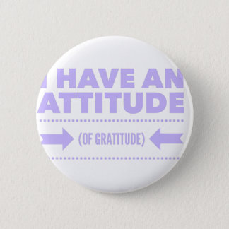 Attitude Gratitude Recovery Detox AA 6 Cm Round Badge
