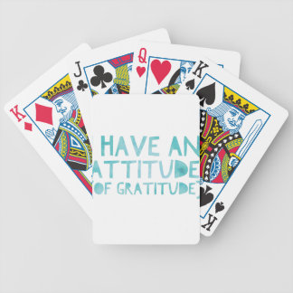Attitude Gratitude Recovery Detox AA Bicycle Playing Cards