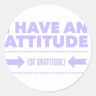 Attitude Gratitude Recovery Detox AA Classic Round Sticker