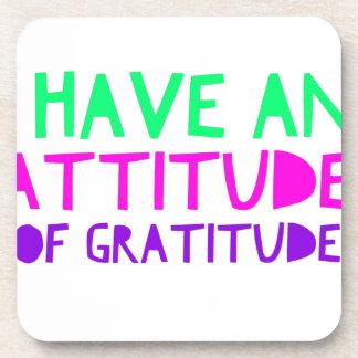 Attitude Gratitude Recovery Detox AA Coaster