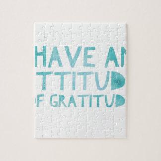 Attitude Gratitude Recovery Detox AA Jigsaw Puzzle