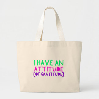 Attitude Gratitude Recovery Detox AA Large Tote Bag