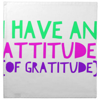 Attitude Gratitude Recovery Detox AA Napkin