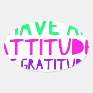 Attitude Gratitude Recovery Detox AA Oval Sticker