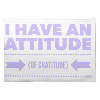 Attitude Gratitude Recovery Detox AA Placemat