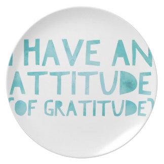 Attitude Gratitude Recovery Detox AA Plate