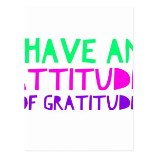 Attitude Gratitude Recovery Detox AA Postcard