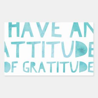 Attitude Gratitude Recovery Detox AA Rectangular Sticker