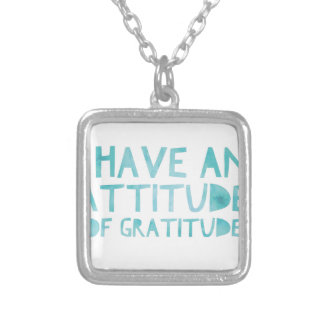 Attitude Gratitude Recovery Detox AA Silver Plated Necklace