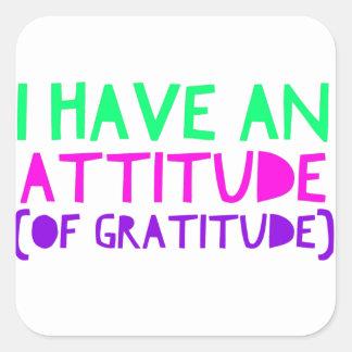 Attitude Gratitude Recovery Detox AA Square Sticker