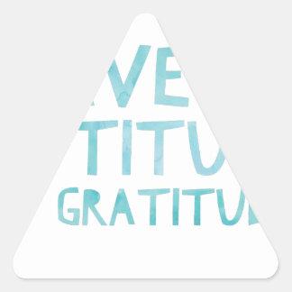Attitude Gratitude Recovery Detox AA Triangle Sticker