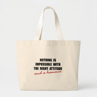 Attitude Hammer Large Tote Bag
