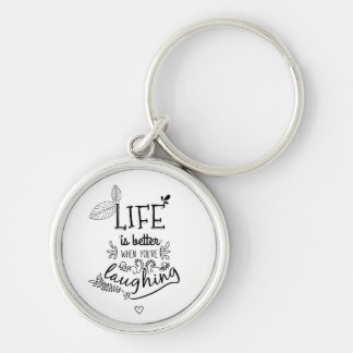 Attitude Happiness Life Quote Motivational Success Key Ring