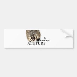 Attitude is everything bumper sticker