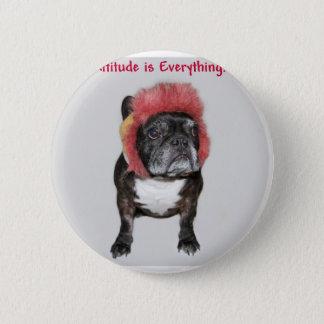 attitude is everything cute dog 6 cm round badge