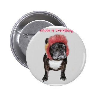 attitude is everything cute dog 6 cm round badge