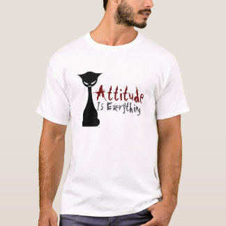 Attitude Is Everything! Gothic Cat - men's shirt