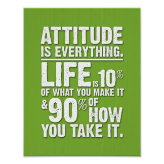 Attitude is Everything Poster - Green