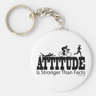 Attitude is Stronger than Facts Key Chain