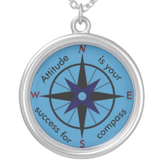 Attitude is your compass for success necklace