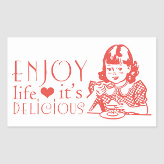 Attitude, Life Quote Motivational Kitchen Rectangular Sticker