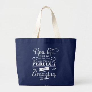 Attitude Life Success Self Confidence Goals Quote Large Tote Bag