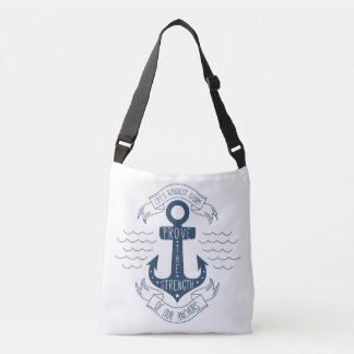 Attitude Motivational Life Quote Anchor Confidence Crossbody Bag