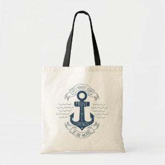 Attitude Motivational Life Quote Anchor Dreams Tote Bag