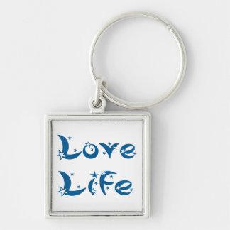 Attitude Motivational Love Life Quote Blue Stars Key Ring