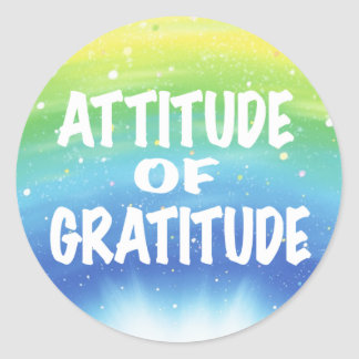 Attitude of Gratitude Round Sticker