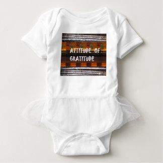ATTITUDE of Gratitude  Text Wisdom Words Baby Bodysuit