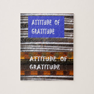 ATTITUDE of Gratitude  Text Wisdom Words Jigsaw Puzzle