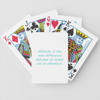Attitude -- ordeal or  adventure (green) bicycle playing cards
