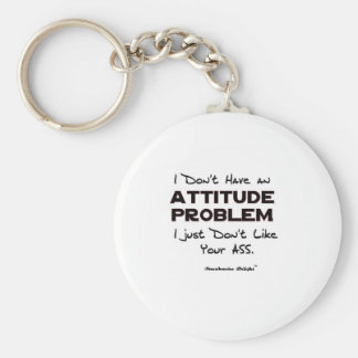 Attitude Problem Basic Round Button Key Ring